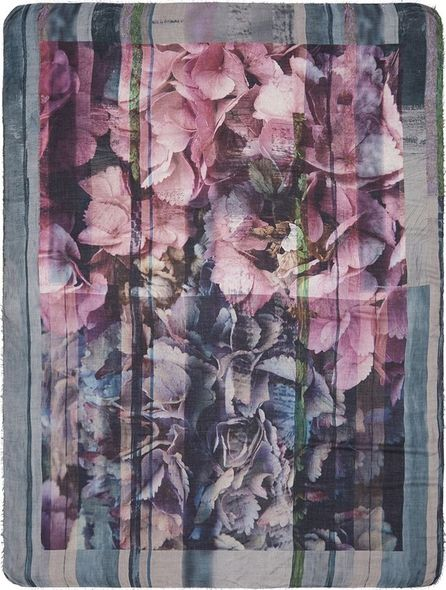 Faliero Sarti 'Petal' print modal-cashmere scarf
