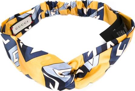 Gucci wallpaper print knot front headband