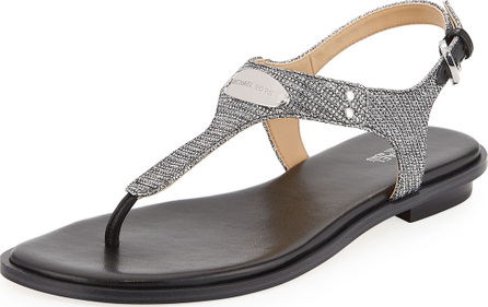 MICHAEL MICHAEL KORS MK Plate Metallic Thong Sandals