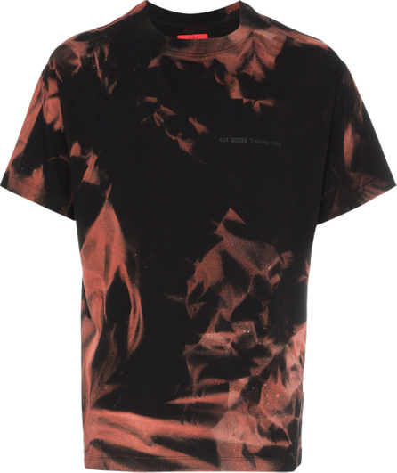 424 Fairfax X armes bleach treated t-shirt