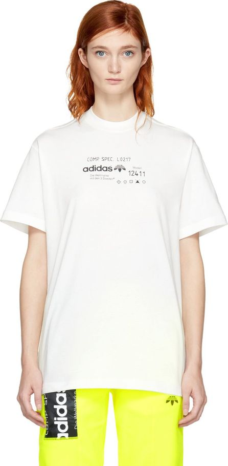 Adidas Originals by Alexander Wang White Graphic T-Shirt