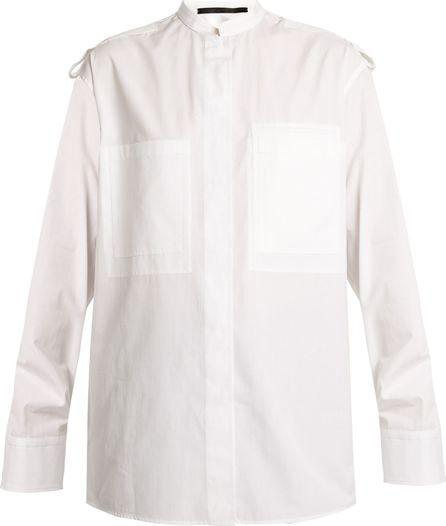 Haider Ackermann Byron military cotton shirt
