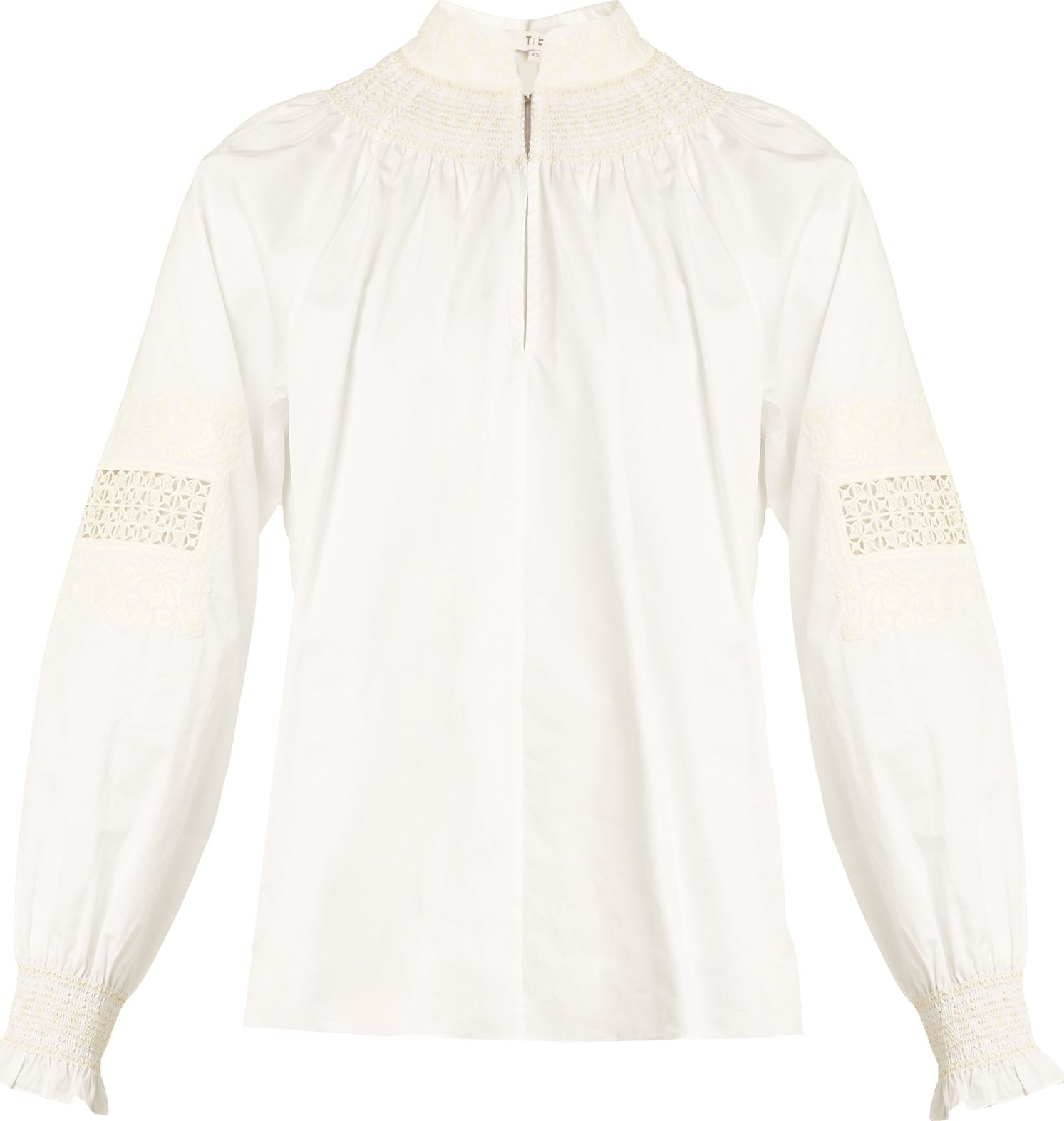 Tibi - Cora embroidered cotton top
