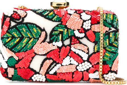 ELIE SAAB Sequin embellished floral clutch