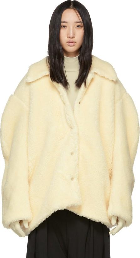A.W.A.K.E Off-White Faux-Shearling Coat