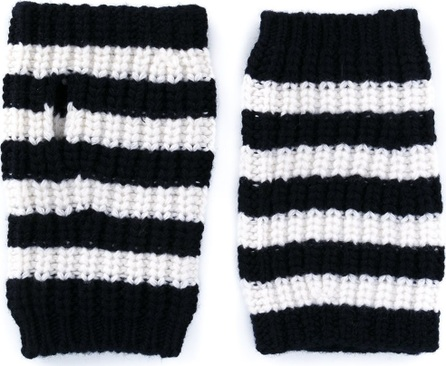 Gucci striped fingerless gloves
