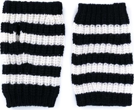 Gucci striped fingerless gloves