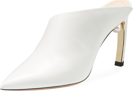 Nicholas Kirkwood Mira Pearly Leather 90mm Mule Pump