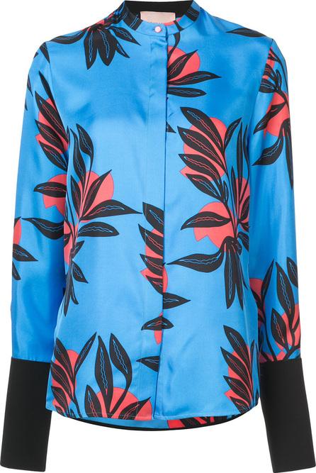 Roksanda Floral print mandarin collar shirt