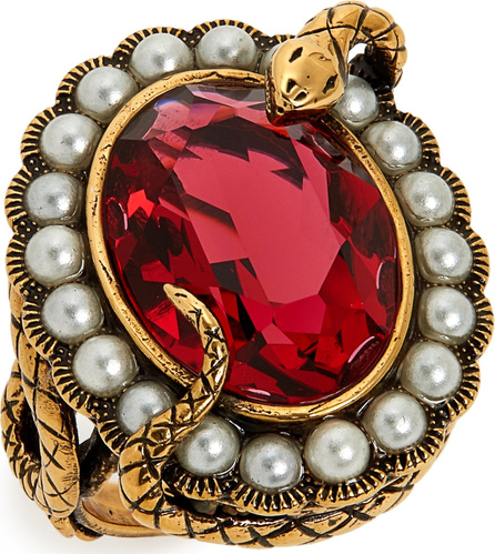 Alexander McQueen Snake Jewel Cocktail Ring