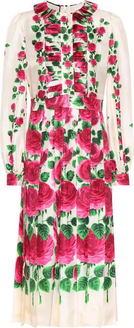 Gucci Rose Garden printed silk gown
