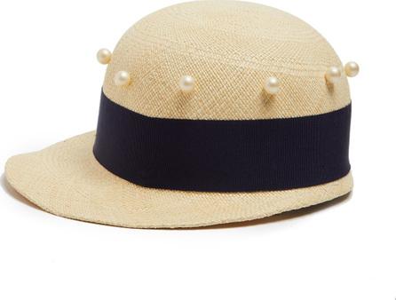 Federica Moretti Joe faux-pearl embellished cap