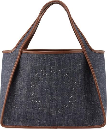Stella McCartney Denim Logo Tote Bag