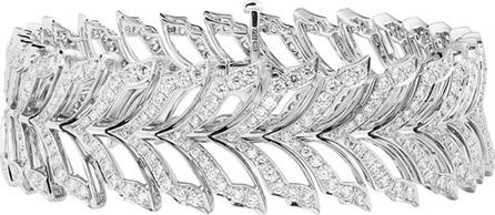 Stephen Webster Magnipheasant White Gold Pave Diamond Tennis Bracelet