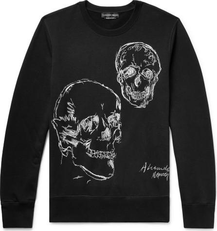 Alexander McQueen Embroidered Loopback Cotton-Jersey Sweatshirt