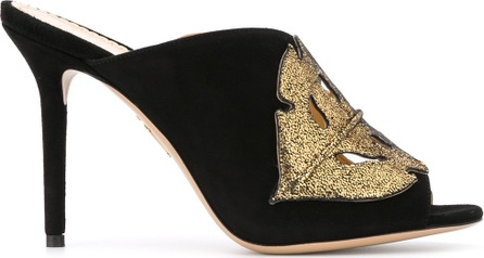 Charlotte Olympia cut-out peep toe mules