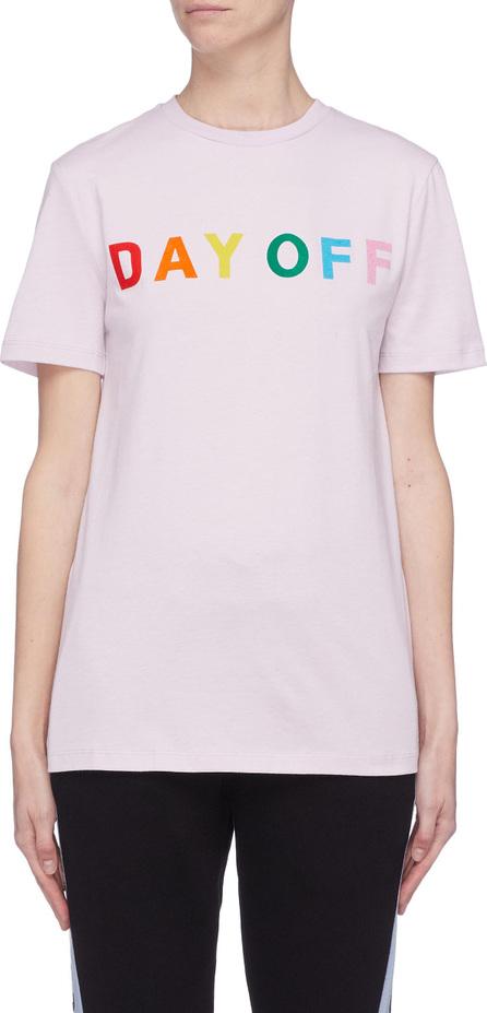 Etre Cecile 'Day Off' slogan print T-shirt
