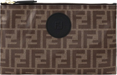 Fendi Fabric FF 1974 Busta Large Wallet