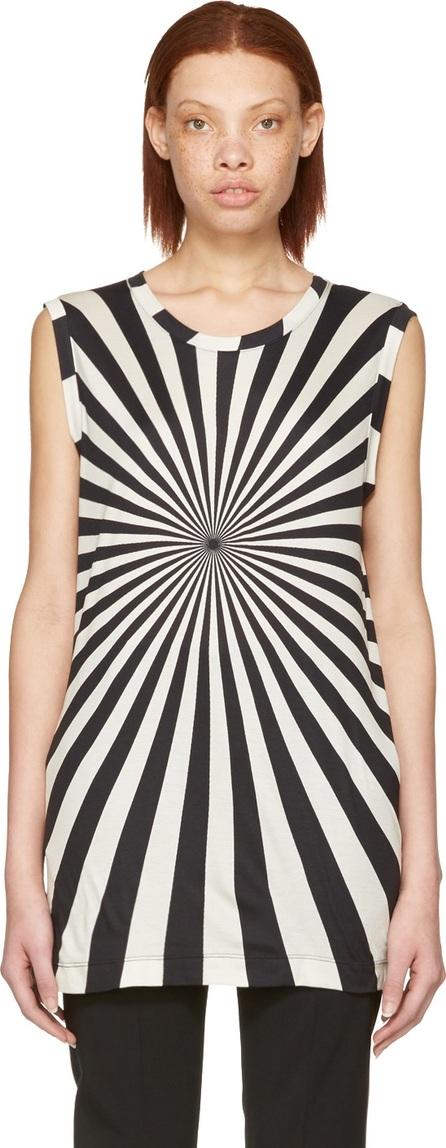 Gareth Pugh Black & Beige Printed T-Shirt