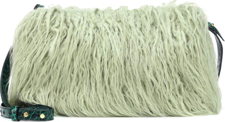 Dries Van Noten Faux fur shoulder bag