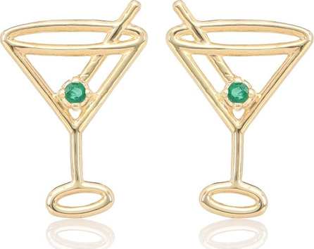 Aliita Martini 9kt gold earrings with emeralds