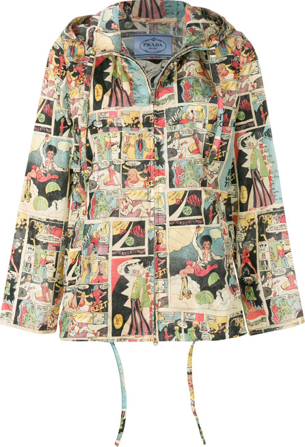 Prada Comic-print windbreaker