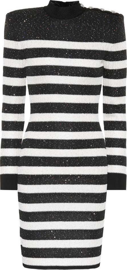 Balmain Sequined striped dress
