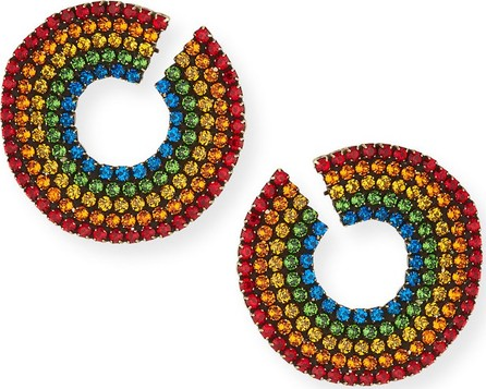 Auden Rainbow Crystal Curler Stud Earrings