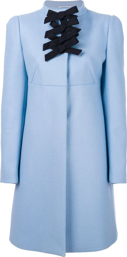 ROCHAS bow detail coat