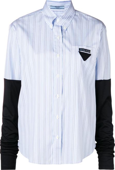 Prada Striped logo shirt