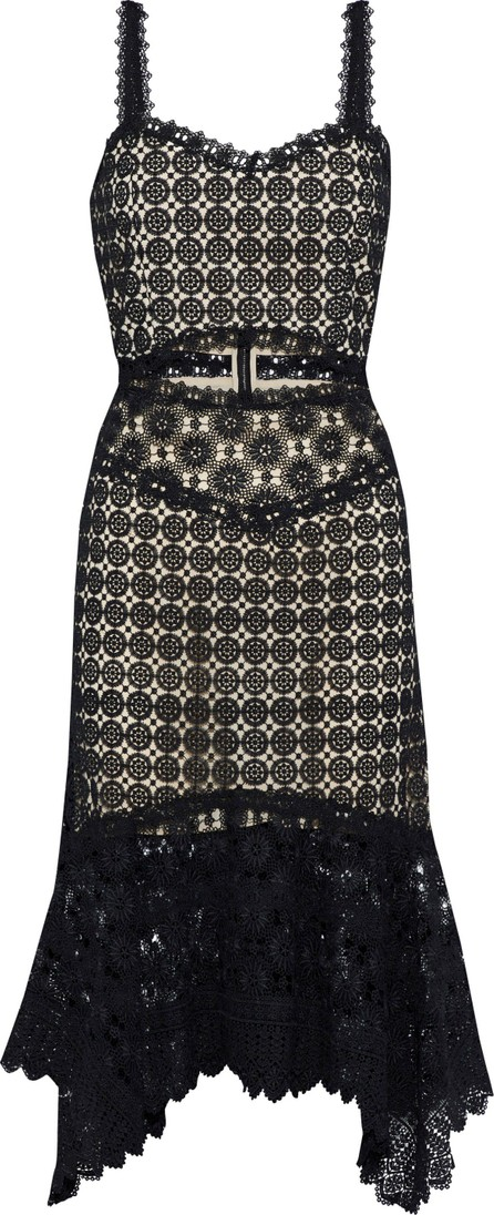 Alice + Olivia by Stacey Bendet Tamika fluted cutout guipure lace dress