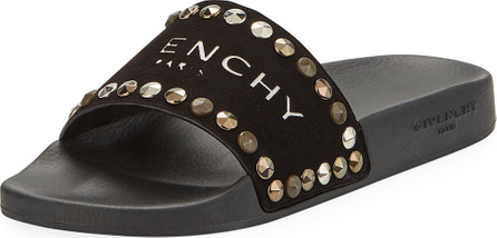 Givenchy Logo Embellished Pool Sandals