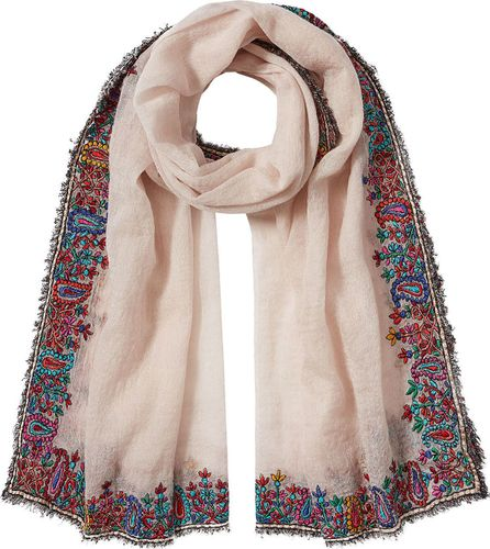 Faliero Sarti Embroidered Scarf with Wool