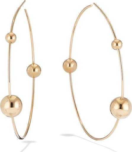 Lana 14k Gold 3-Bead Hoop Earrings