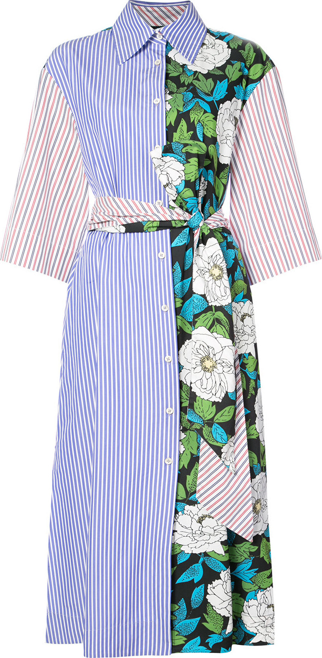 DIANE von FURSTENBERG - Three-quarter sleeve belted shirt dress