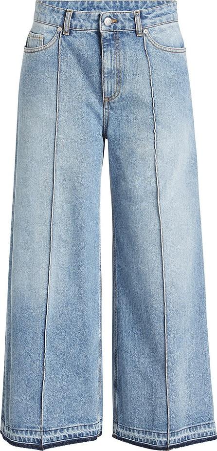 Alexander McQueen Wide-Leg Crop Jeans