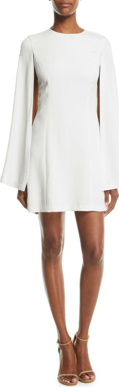A.L.C. Erin Viscose-Blend Cape Dress