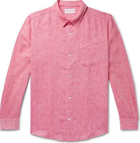Derek Rose Monaco Mélange Slub Linen Shirt