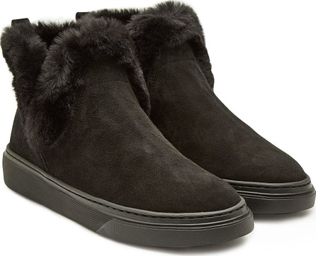 Hogan Leather Sneakers with Rabbit Fur