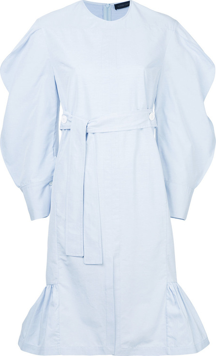 Eudon Choi Belted puff-sleeved dress