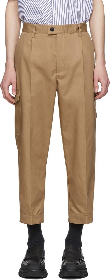MSGM Tan Gabardine Cargo Pants