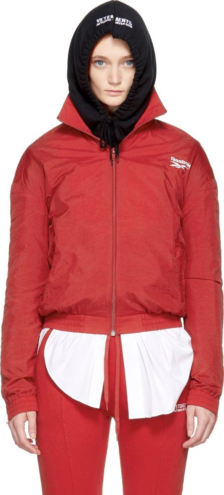 Vetements Red Reebok Edition Reworked Tracksuit Jacket