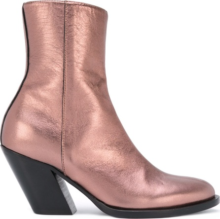 A.F.Vandevorst metallic mid-calf boots