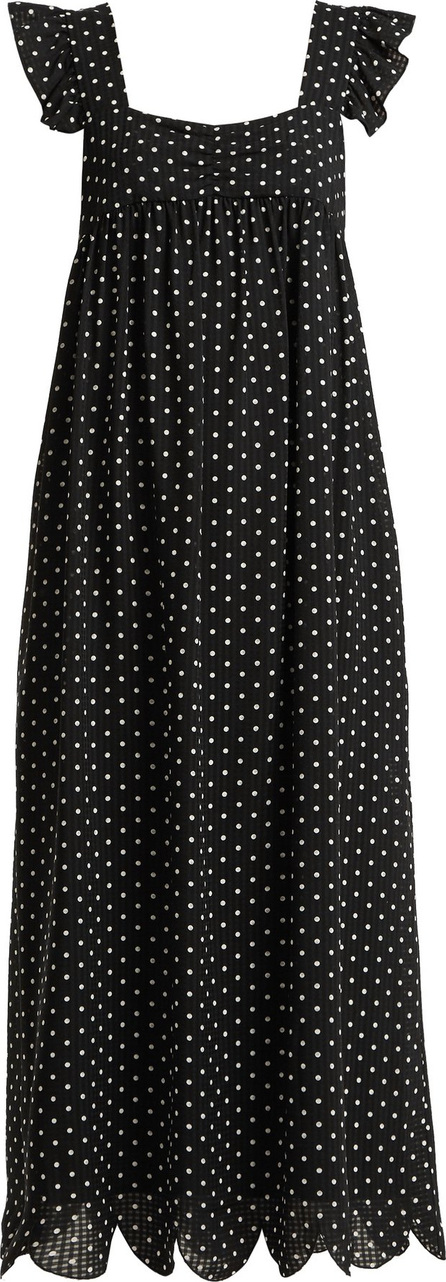 Alexachung Polka-dot print square-neck dress
