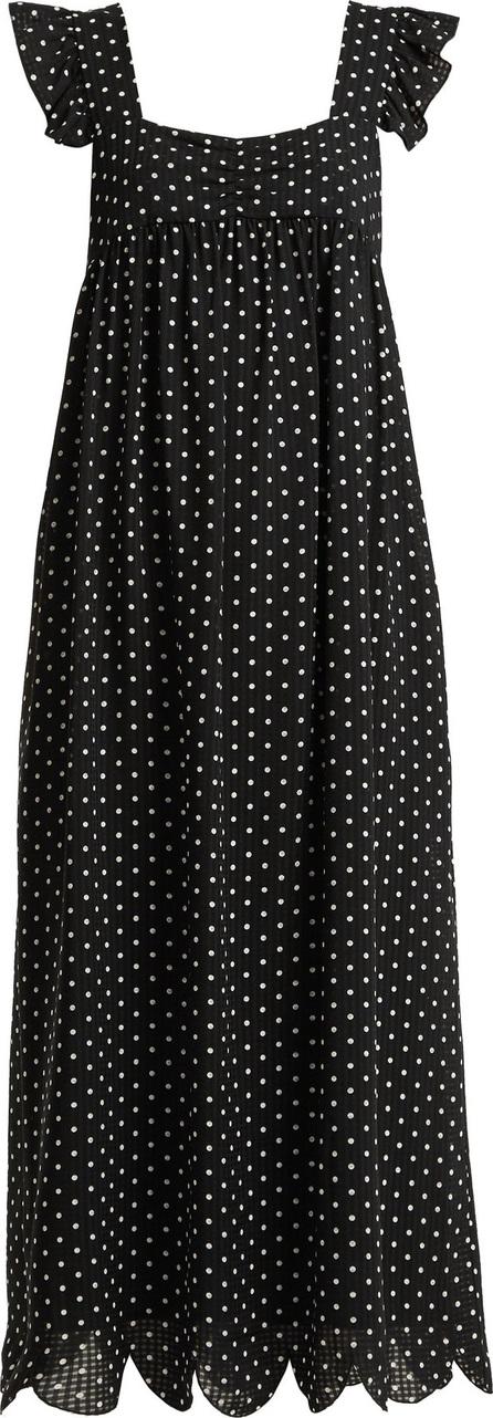 Alexachung Polka-dot print square-neck dress