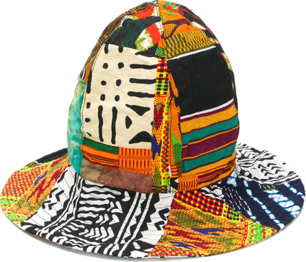 Engineered Garments African print patchwork dome hat
