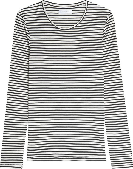 ANINE BING Striped Top with Cotton