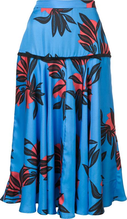 Roksanda Floral print ruffle skirt