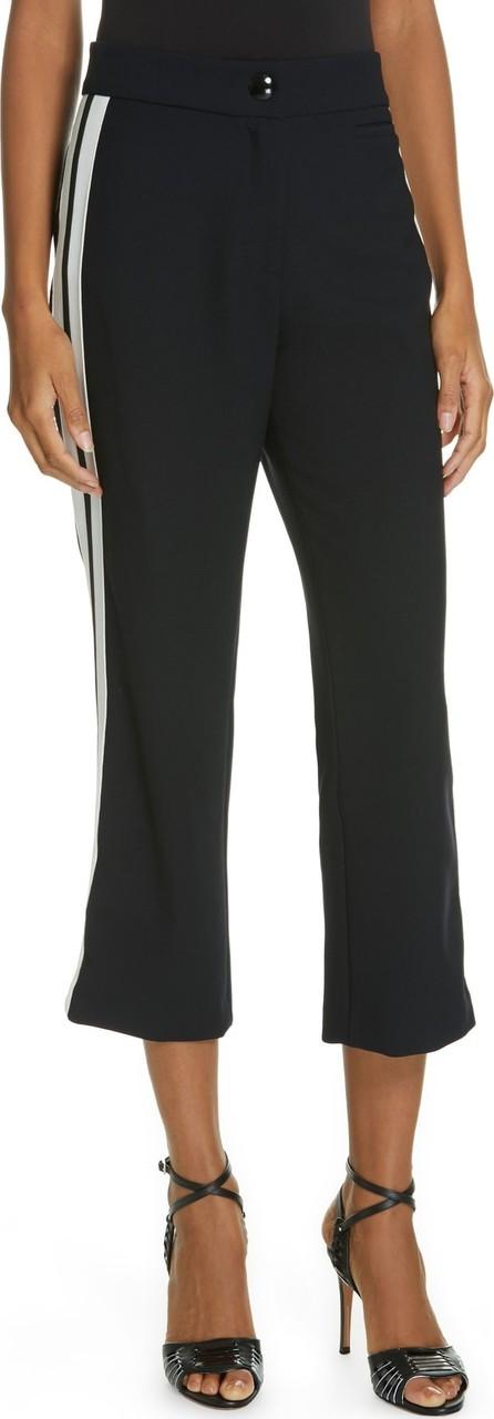 Veronica Beard Marlin Side Stripe Crop Trousers