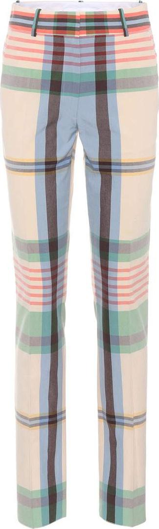 Victoria Beckham Plaid cotton trousers